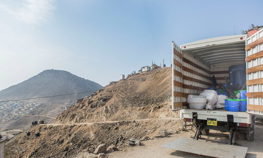truck in front of hills1